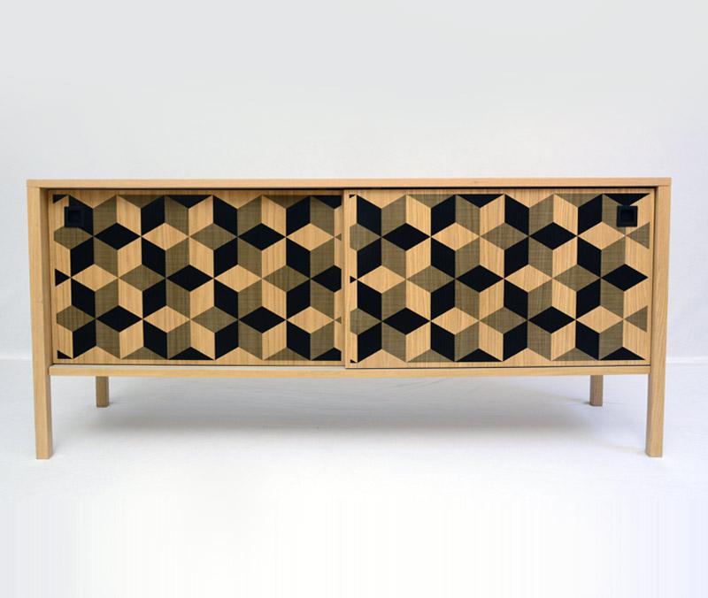 Enfilade ISOMETRIC La cabane de Jeanne création de meubles u2013 bois u2013 métal # Enfilade Bois Et Metal